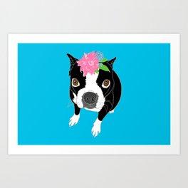 Boston Terrier Illustrated Print Art Print