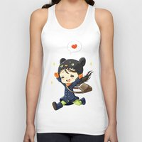 happiness Tank Tops featuring Happiness by Freeminds
