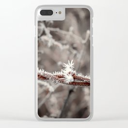Frosty Barbed Wire Clear iPhone Case