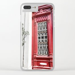 Red Lisbon Clear iPhone Case