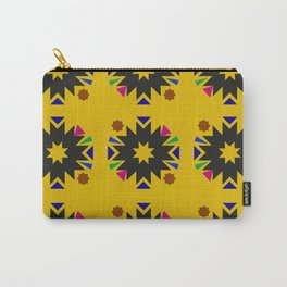 Geometric pattern Morocco Zeulige gold black Carry-All Pouch