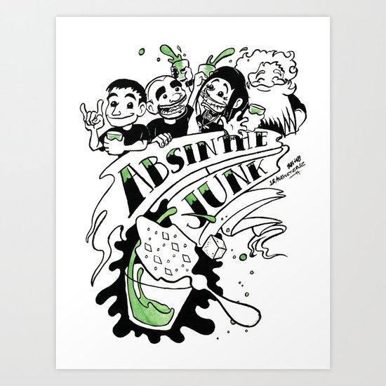 Absinthe Junk: Celebration Art Print