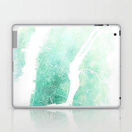 New York City Watercolor Map #1 Laptop & iPad Skin