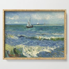Van Gogh Seascape Serving Tray