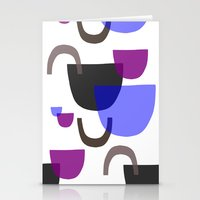 mid century modern Stationery Cards featuring Mid Century Shapes by Modern Day Magpie