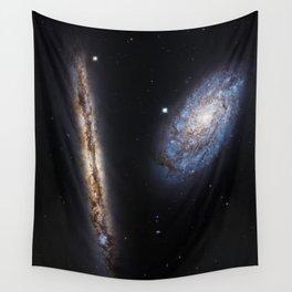 Galaxies NGC 4302 and NGC 4298 Wall Tapestry