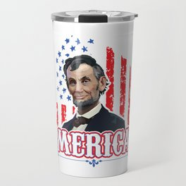 Independence Day Freedom United America USA Drinking Like Lincoln 4th Of July Gift Travel Mug