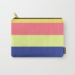 Modern rainbow neon colors color block stripes Carry-All Pouch
