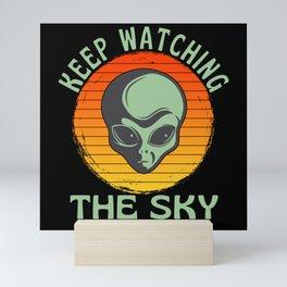 Keep Watching The Sky  Grey Alien UFO Mini Art Print