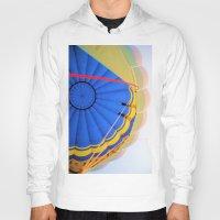 hot air balloon Hoodies featuring BALLOON LOVE - Hot Air Balloon by Brian Raggatt