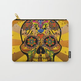 psychedelic Pop Skull 317A Carry-All Pouch
