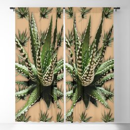 Aloe Vera abstract field Blackout Curtain