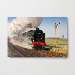 46115 Scots Guardsman Steaming Through Hellifield Metal Print