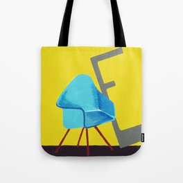 E is for Eames Chair Tote Bag