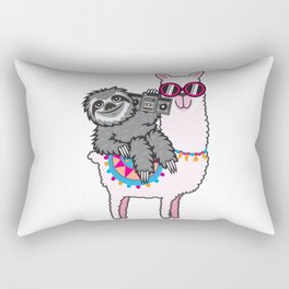 Sloth Music Llama Rectangular Pillow
