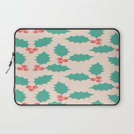Christmas Pattern Berry Thorns Conifer Laptop Sleeve