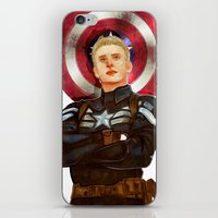 steve rogers iPhone & iPod Skins featuring Steve Rogers by chazstity