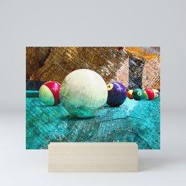 Modern snooker and Billiards art Mini Art Print
