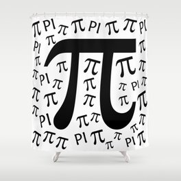 The Pi symbol mathematical constant irrational number, greek letter, background Shower Curtain