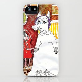 Girl & Wolf iPhone Case