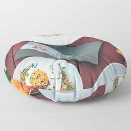 Beautiful Food by Nate Johnston Floor Pillow