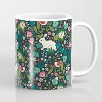 forest Mugs featuring Forest Friends by Anna Deegan
