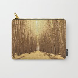 The road in a barren forest Carry-All Pouch