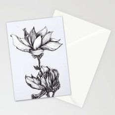 Magnolia in black and white Stationery Cards