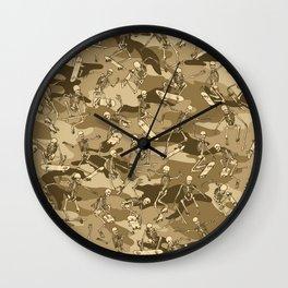 Grim Ripper Skater Camo DESERT Wall Clock