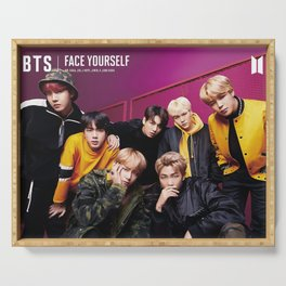 bts face yourself 2 Serving Tray