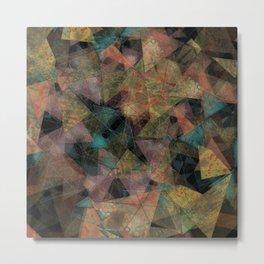 Triangle chaos Autumn Metal Print