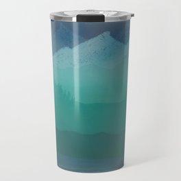 Ombre Mountainscape (Blue, Aqua) Travel Mug