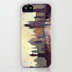 Prague, watercolor explorations in violet  iPhone (5, 5s) Slim Case
