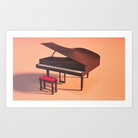 piano Art Prints featuring Piano  by Nestor Ramos