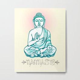 Buddha Namaste Metal Print