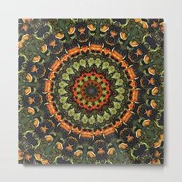 Citrus Infused Mandala Metal Print