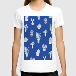 Little cactus pattern - Princess Blue T-shirt