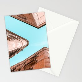Barcelona City, Gothic Quarter, El Raval, Perspective View, Downtown Barcelona Spain, Travel Print, Vintage Architecture Stationery Cards
