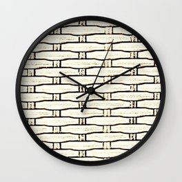 Natural Woven Cane Wall Clock
