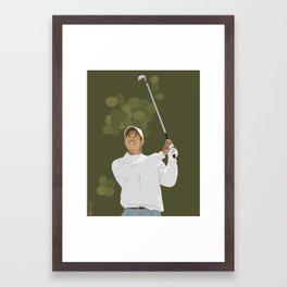Tiger Woods Framed Art Print
