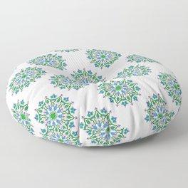 Mandala - cool colours Floor Pillow