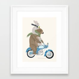 biker buddies Framed Art Print