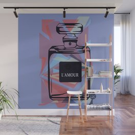 L'AMOUR Pastel Blue Wall Mural