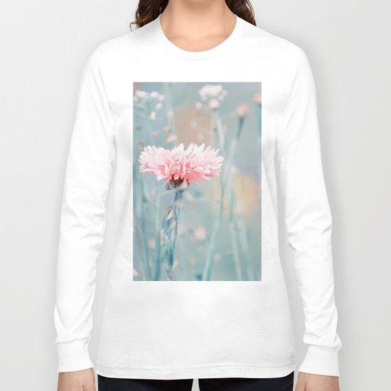 Pink pastel cornflower Long Sleeve T-shirt