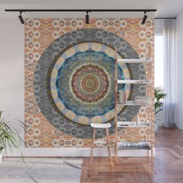 Elegance of Timeless Peace Boho Lace Depth Meditation Print Wall Mural