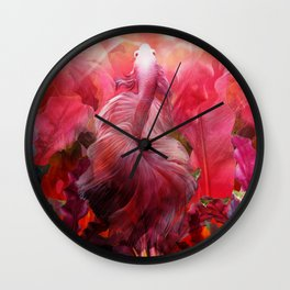 """Betta splendens Tropical Dream (Siam fighter)"" Wall Clock"