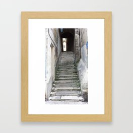 Old Stairs in Bourge, France Framed Art Print
