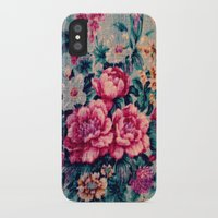 vintage floral iPhone & iPod Cases featuring Vintage Floral  by CLE.ArT.