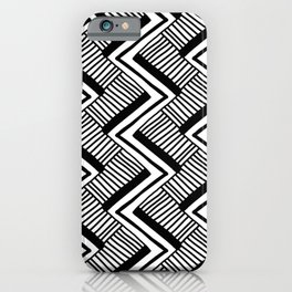 Zig-Zag Black & White iPhone Case