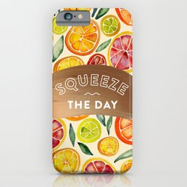 Squeeze the Day – Rose Gold iPhone Case